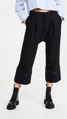 R 13 Long Rise Pants with Wide Cuff Pants