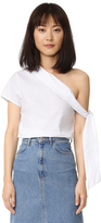 MLM Label Asymmetrical Tie Top