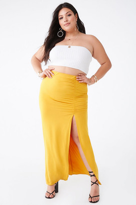 Forever 21 Plus Size Ruched Maxi Skirt