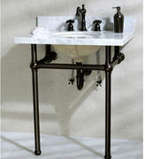 """Kingston Brass Templeton 30"""" Fauceture Console Sink with Overflow Mount"""