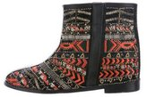 Alice + Olivia Embroidered Ankle Boots