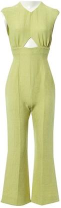 Emilia Wickstead Green Viscose Jumpsuits