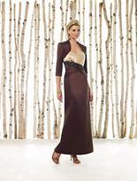 Mon Cheri Cameron Blake by Mon Cheri - 211602 Two Piece Dress In Apricot Cocoa