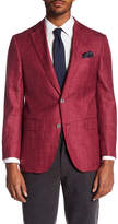 Jack Victor Textured Woven Classic Fit Textured Linen Blend Sport Coat