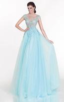 Tarik Ediz Embellished A-Line Gown 92616