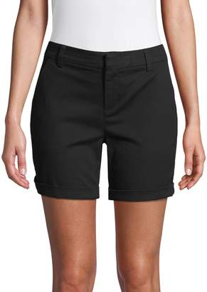 Lord & Taylor Petite Rolled Cuff Shorts