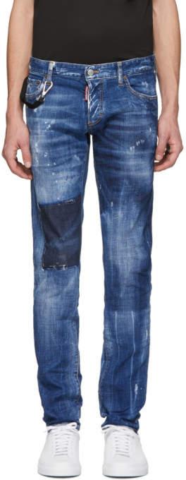 DSQUARED2 Blue Dark Vicious Slim Jeans
