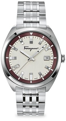 Salvatore Ferragamo Evolution Stainless Steel Bracelet Watch