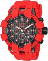 Invicta Men's 'Bolt' Quartz Stainless Steel and Silicone Casual Watch, Color:Red