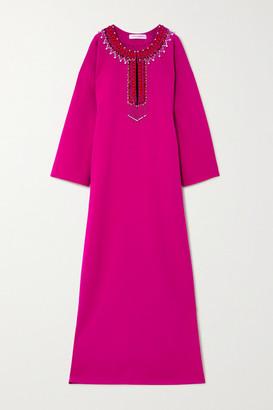 Carolina Herrera Oversized Embellished Crepe Gown - Fuchsia