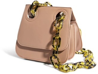 """House of Want """"H.O.W."""" We Are Original Shoulder Bag In Taupe"""
