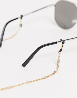 ASOS DESIGN sunglasses chain in vintage design in shiny gold tone