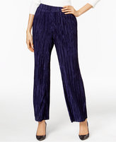 NY Collection Plisse Wide-Leg Pants