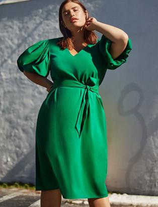 ELOQUII Puff Sleeve Dress