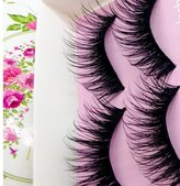 Big sale!False Eyelashes,BeautyVan Fashion 5 Pairs Fashion Natural Handmade Long False Black Makeup Eyelashes