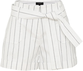 Oxford Madeline Pinstripe Shorts Wht X