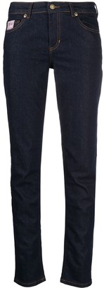 Versace Jeans Couture Logo Embroidered Skinny Jeans