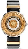 Versace V-Metal Rose Gold & Black Dial Watch, 40mm
