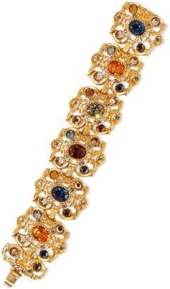 Ben-Amun 24-karat Gold-plated Crystal Bracelet