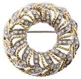 18K Diamond Wreath Brooch Pendant