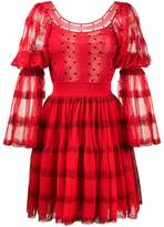 Alexander McQueen tiered polka dot dress