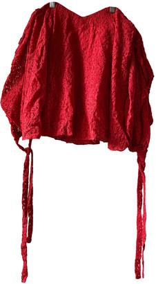 Caroline Constas Red Polyester Tops