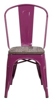 Williston Forge Nona Metal Stackable Dining Chair Frame Color: Purple