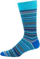 Jared Lang Thin-Striped Cotton-Blend Socks