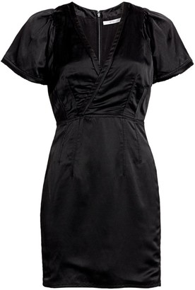 Derek Lam 10 Crosby Surplice Strech-Linen Sheath Dress