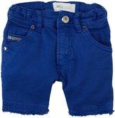 Diesel Stretch Gabardine Shorts (Baby) - Blue Web-3 Months