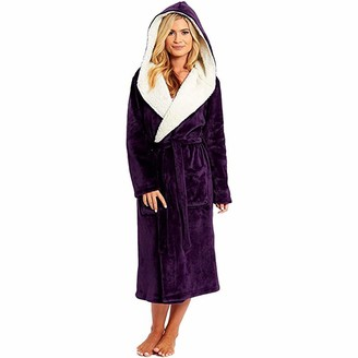 Whycat Hoodie Whycat Dressing Gown Women with Hood - Luxurious Fluffy Ladies Dressing Gown in Super Soft Fleece for Women