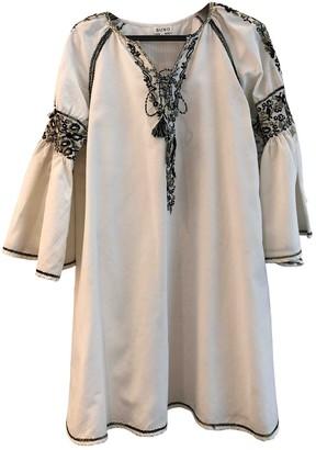 Suno White Cotton Dresses