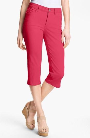 NYDJ 'Nanette' Crop Stretch Jeans Womens Watermelon Size 12 12