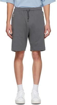 Dries Van Noten Grey Cotton Zip Shorts
