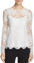 DKNY Long Sleeve Lace Blouse
