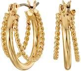 Lauren Ralph Lauren Perfect Pieces Twisted and Smooth Triple Hoop Earrings Earring