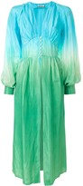 ATTICO The ombre-print silk dress