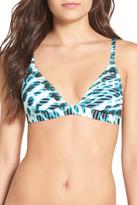 RVCA &Swayed& Print Triangle Bikini Top