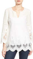 NYDJ Embroidered Lace Inset Tunic