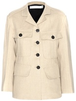 Victoria Beckham Jute And Silk-blend Jacket