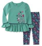 Kids Headquarters Baby Girls Two-Piece Floral Top and Leggings Set