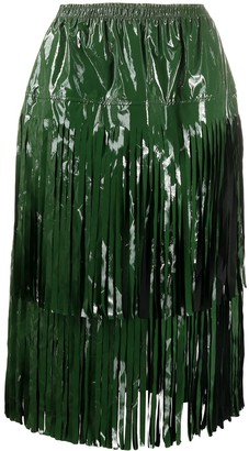 Sara Lanzi Layered Fringed Skirt