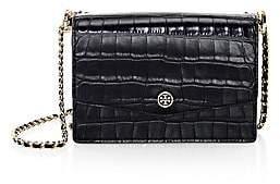 Tory Burch Women's Mini Robinson Croc-Embossed Leather Shoulder Bag