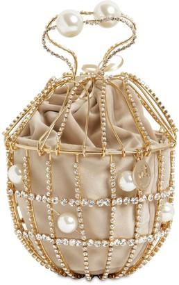 Rosantica Ginestra Crystal Bucket Bag