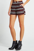 BCBGeneration Jacquard Striped Shorts - Red