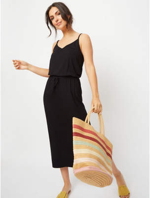 George Black Jersey Maxi Dress