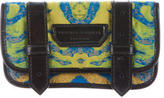 Proenza Schouler Leather-Trimmed Woven Clutch