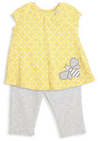 Offspring BabyS Two-Piece Bee Tunic and Leggings Set