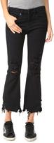 Blank Ripped Hem Jeans