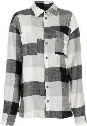 Natasha Zinko Check Print Oversize Shirt